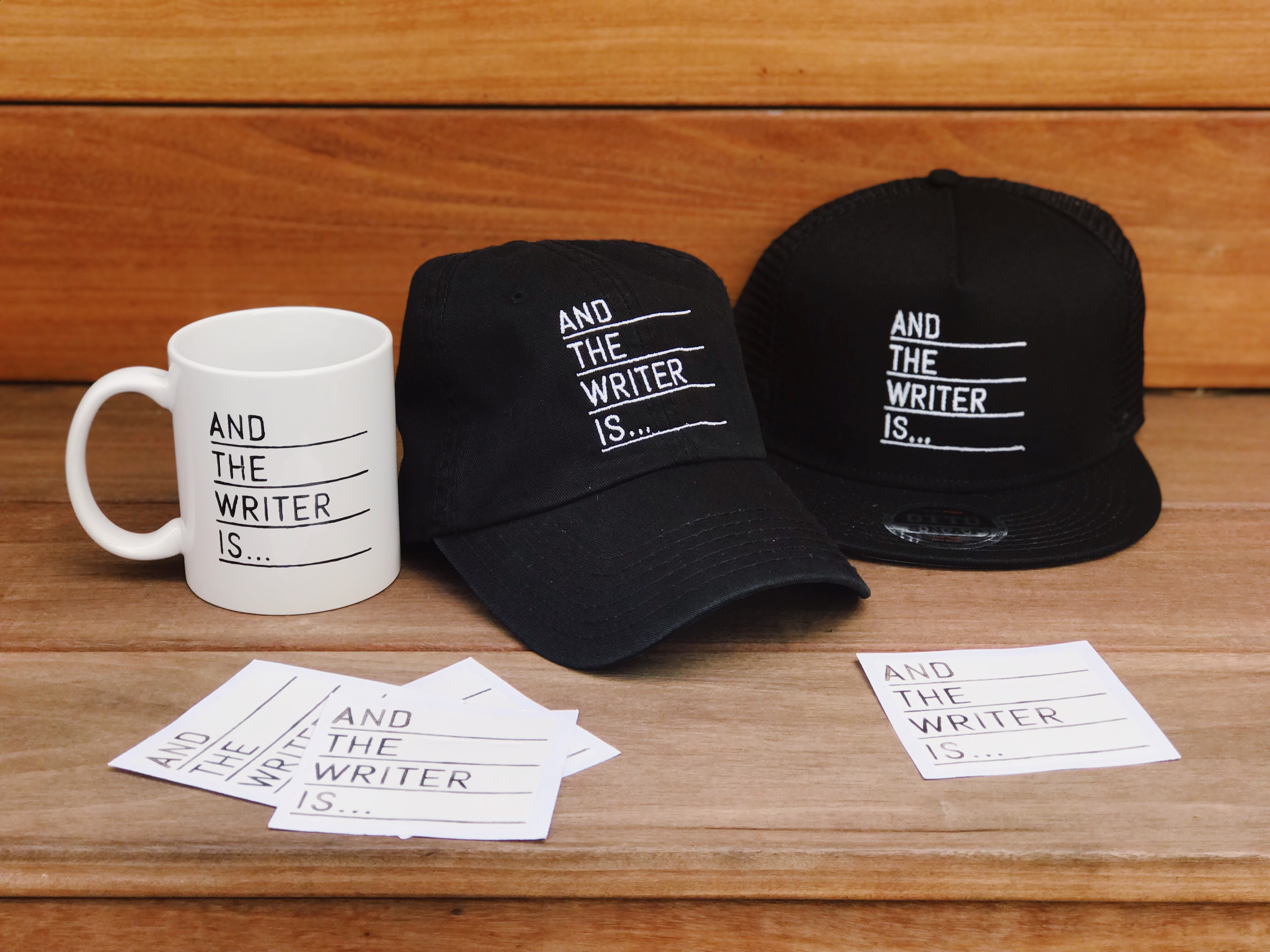And The Writer Is... Merch