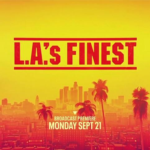 """FOX Broadcasting's LA'S FINEST social ad featuring """"It's Ours (feat. Sydney Franklin, Mecca Coleman, Liz Gavillet) - Noisecastle III""""  Written by: Liz Gavillet, Sydney Franklin, Mecca Coleman, & Noisecastle III"""