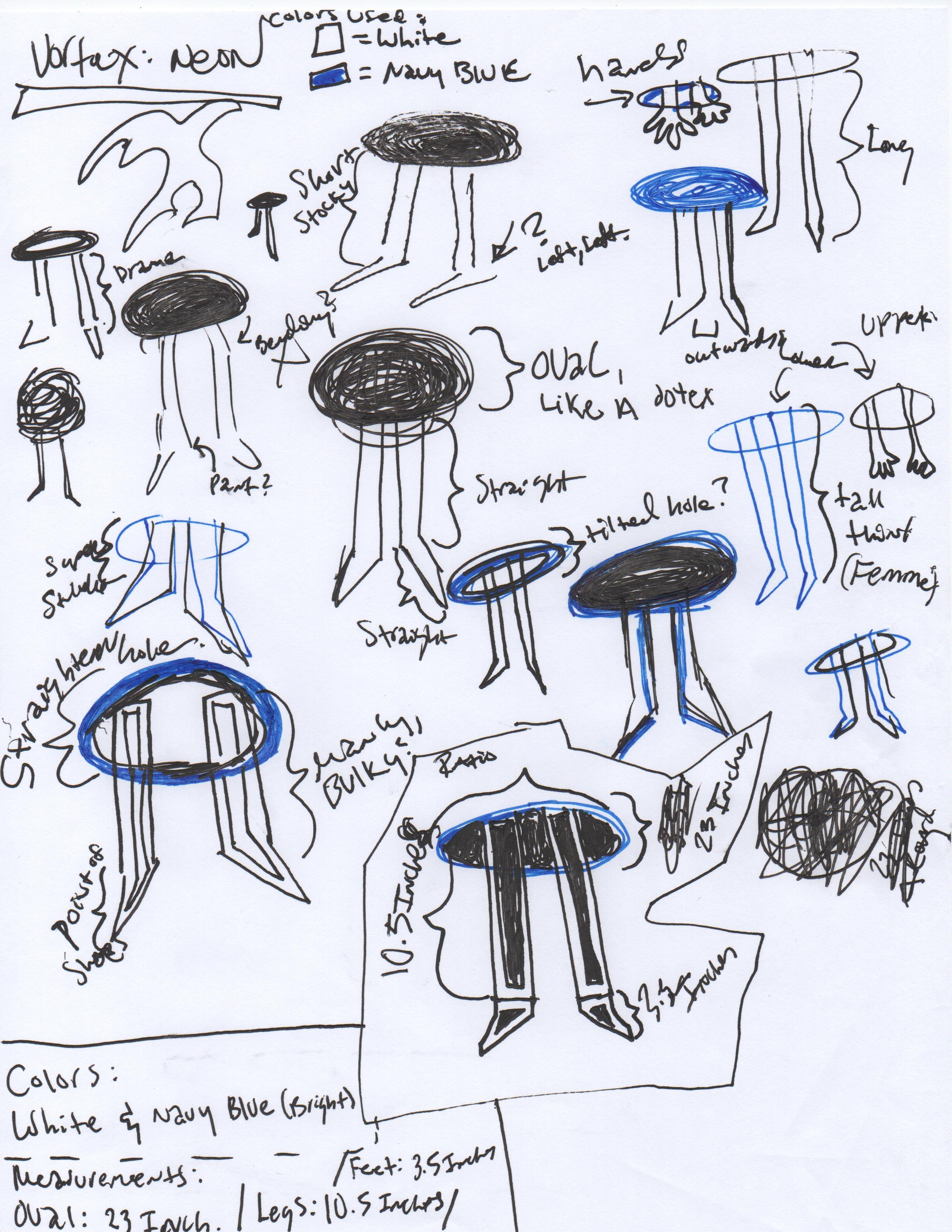 Sketches for Vortex (neon concept)
