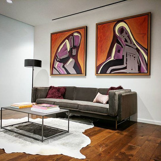 Paintings and frames for a reception area in the Park Avenue Tower.jpg