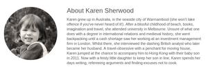 About Karen Sherwood, Playtimes Contributor