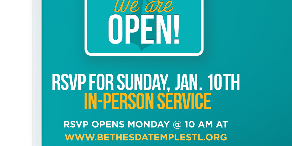 RSVP for Service: Jan 10th