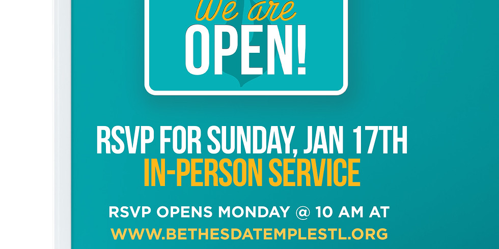 RSVP for Service: Jan 17th