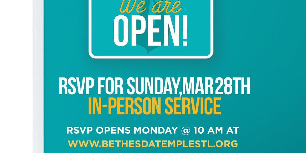 RSVP for Service: March 28th
