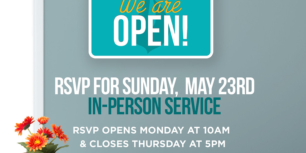 RSVP for Service: Sunday May 23rd