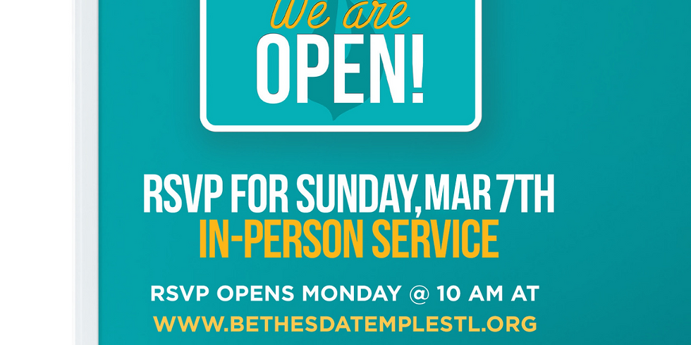 RSVP for Service: March 7th