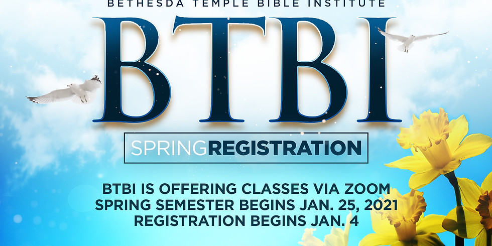 BTBI Spring Registration