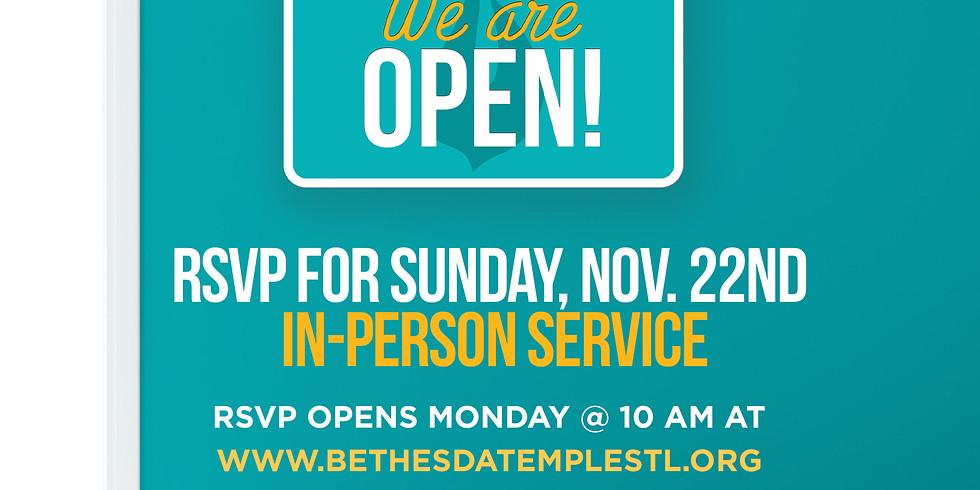 RSVP for Service: Nov 22nd
