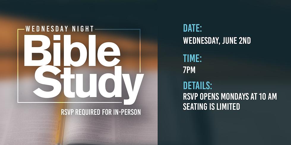 RSVP for Bible Class: Wednesday, June 2nd