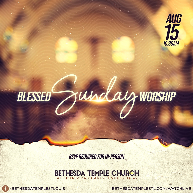 RSVP for Service: Sunday August 15th