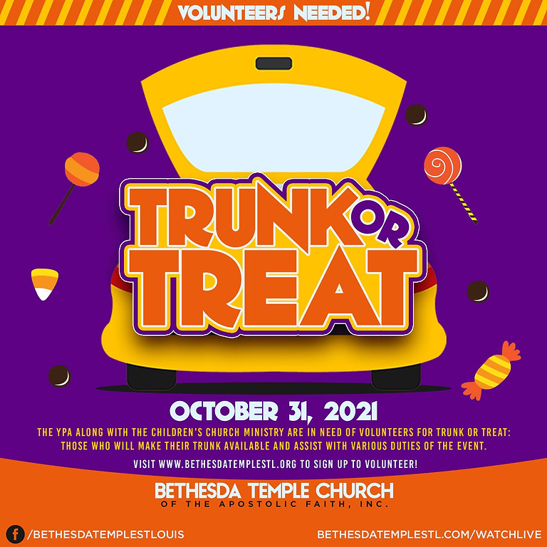 Trunk or Treat Volunteer Sign Up