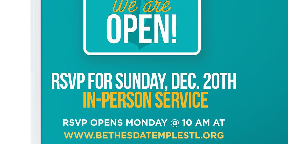 RSVP for Service: Dec 20