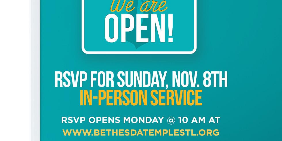 RSVP for Service: Nov 8th