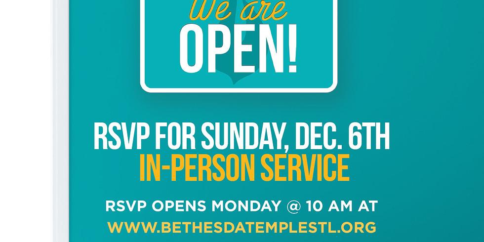 RSVP for Service: Dec 6th