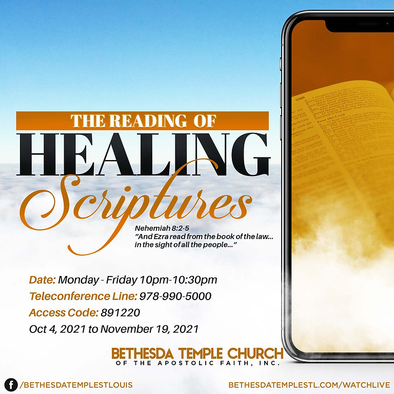 The Reading of Healing Scriptures