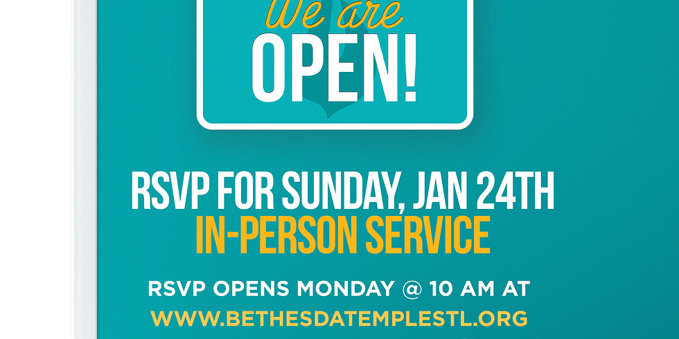 RSVP for Service: Jan 24th