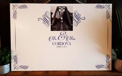 24 x 30 signature wedding canvas