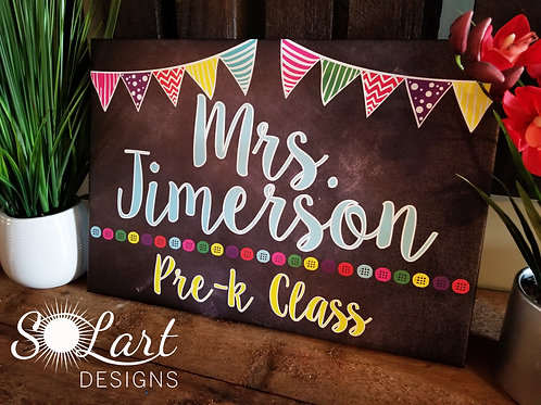 14 x 20 personalized teach gift canvas