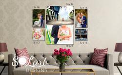 Custom Wedding Collage Wall Set