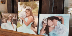 Sweet 15th birthday photo canvas
