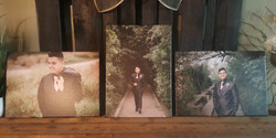 3) 14 x 20 photo canvas