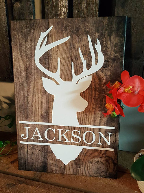 14 x 20 Custom Deer Head canvas art