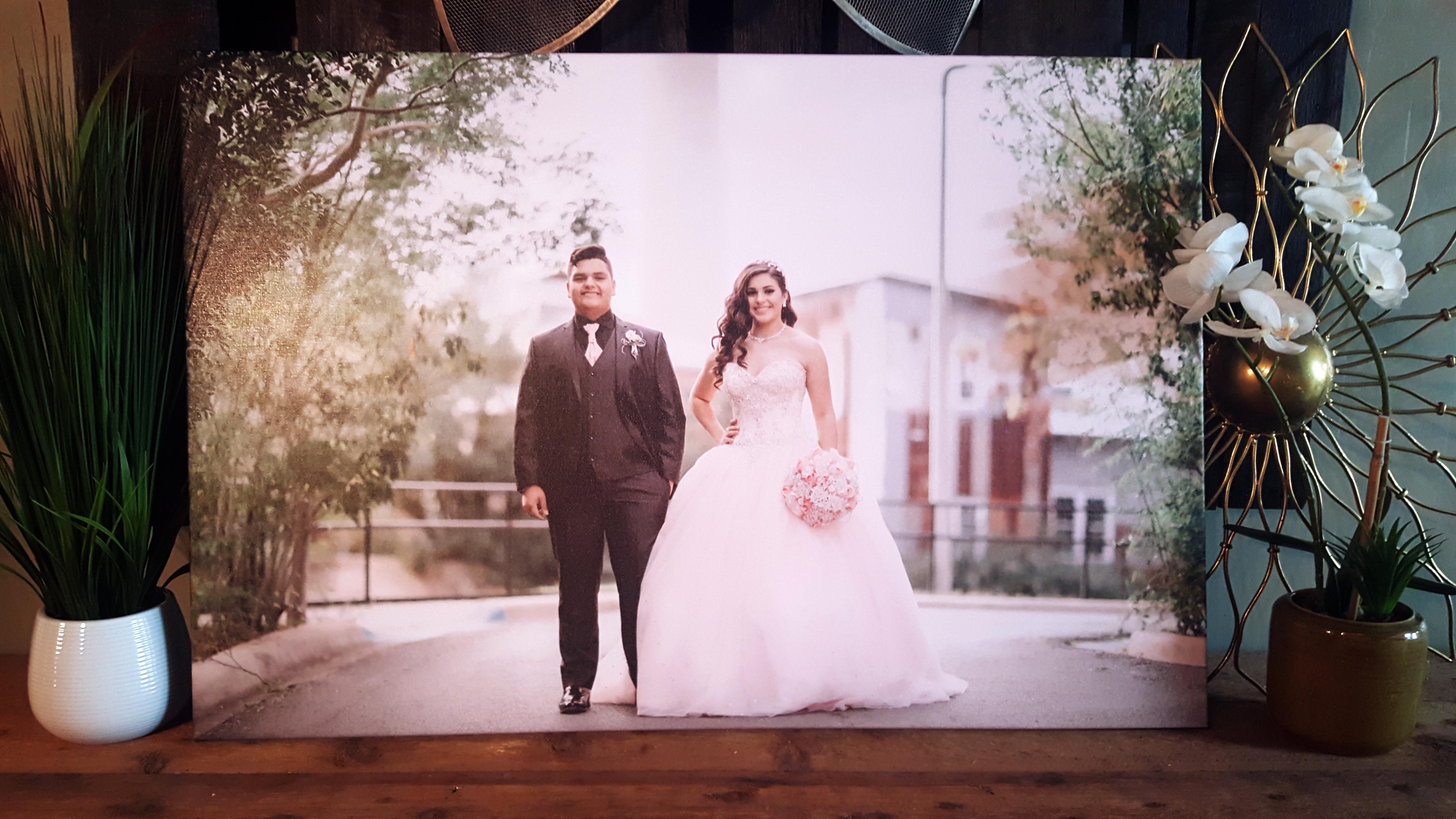 Large 24 x 36 photo canvas $95