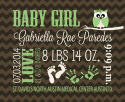 baby announcementheart