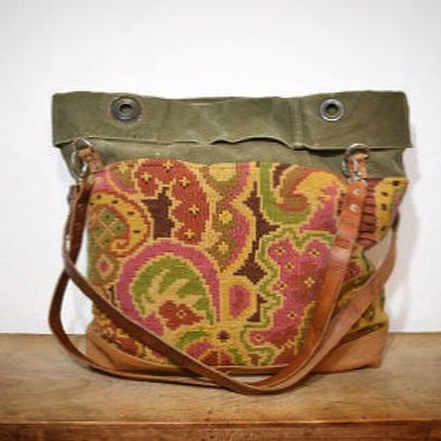Tapestry and Army Canvas Tote