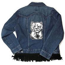 Hand-Painted Westie Dog Denim Jacket