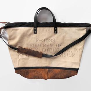 Vintage Upcycled Large Zipped Bag.jpg
