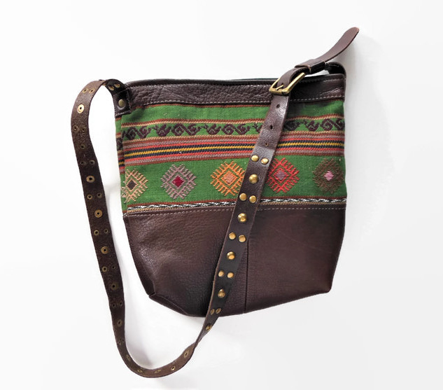 Green and Brown Leather Upcycled Bag.jpg