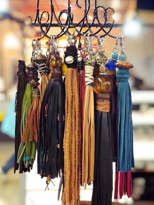 One-of-a-kind hand-crafted tassles