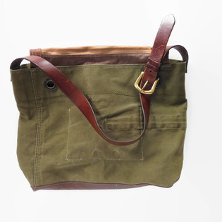 Upcycled Army Canvas Large Zip Top Tote.jpg