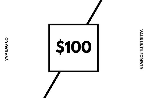 $100 Dollar Value Gift Certificate