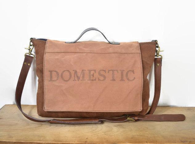Vintage Domestic Mailbag and Suede Messenger Bag