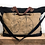 Thumbnail: Large Upcycled Black Canvas Bag with Bicycle / Weekend Bag / Carry On