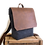 Thumbnail: Grey Felt & Brown Leather Backpack