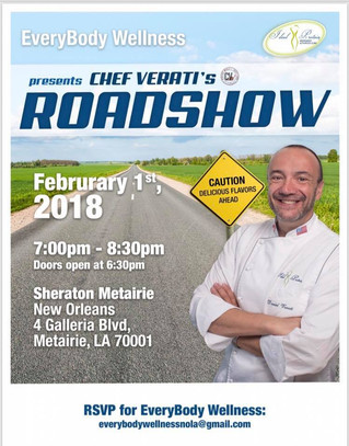 Ideal Protein's Chef Verati is coming to New Olreans! RSVP NOW!!