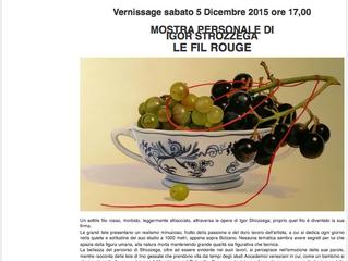 LE FILE ROUGE  Mostra alla Nuova Galleria d'Arte la Piccola