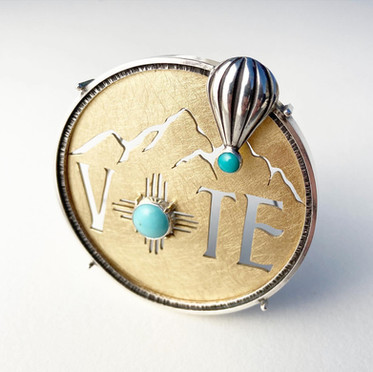 New Mexico Vote Brooch 2020