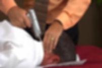 man having precision treatment with Impulse Instruments.