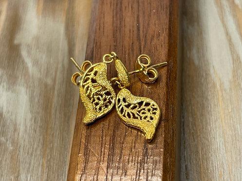 24K Dangle Fox Tail Earrings