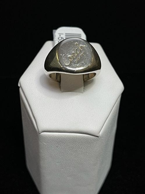 925 Coach Signet Ring