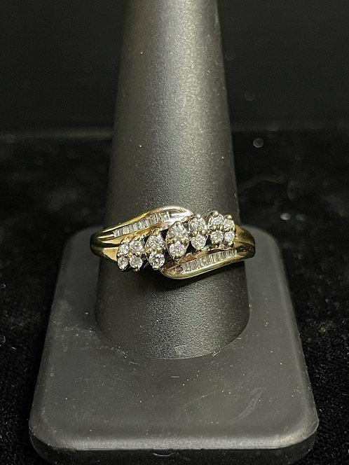 10KYG Diamond Ring