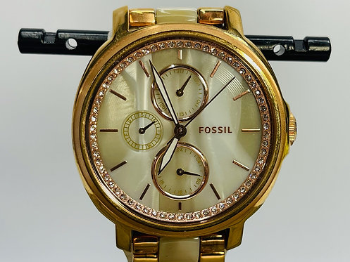 Fossil Chelsey Rose Pave Halo Watch