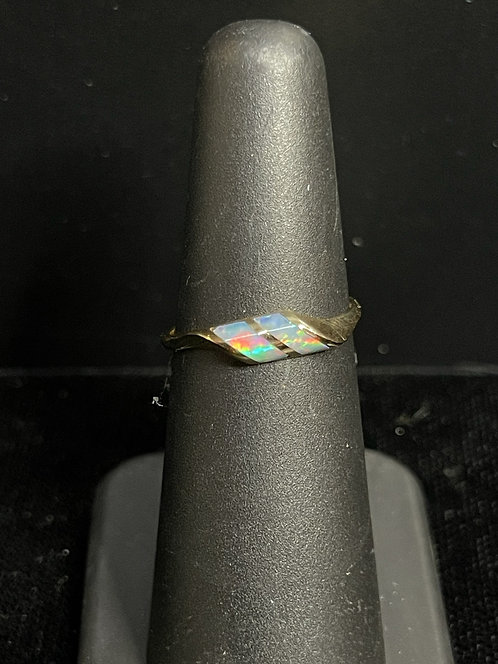 14KYG Kabana Twin Opal Ring