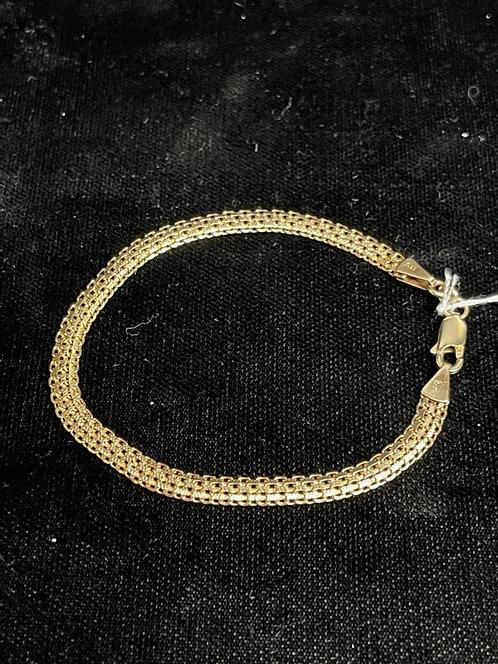 """14KYG 7"""" Woven Bracelet"""
