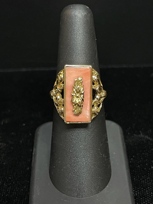 Etruscan Coral Ring