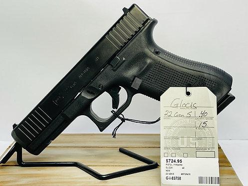 Glock 22 Gen 5 .40 - New